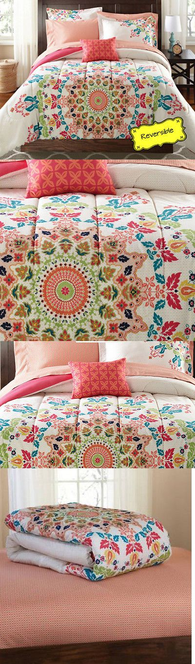 Comforters and Sets 66728: 8-Pc King Size Coral Pink Reversible Medallion Comforter Bedding Set W Sheets -> BUY IT NOW ONLY: $78.73 on eBay!