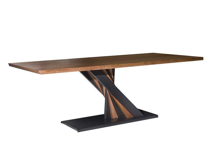 Table T238 VENTALIA metal - wood design by Manolis Giannouladis for #furnitureunico