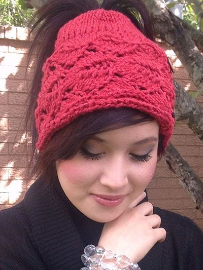 Cardiff Bay Ponytail Hat Knitting Pattern Download from  e-PatternsCentral.com -- A ponytail hat is th…  2d6b30c8f45