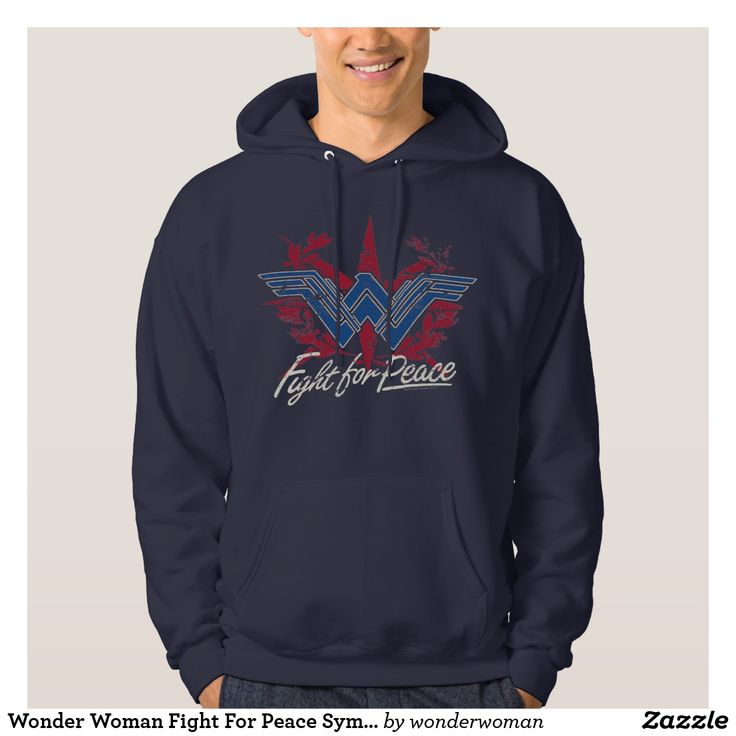 Wonder Woman Fight For Peace Symbol Hoodie #superhero #DC #comics #wonder #woman #official #licensed #merchandised #fashion #clothing #t-shirt #tank #top #apparel #wearable