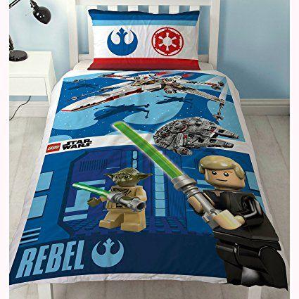 Amazon.com: Lego Star Wars Battle Single/US Twin Duvet Cover and Pillowcase Set: Home & Kitchen
