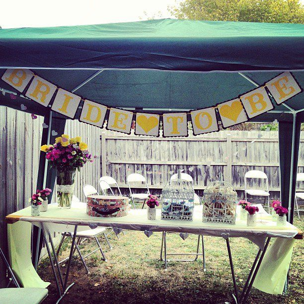 It started outside an afternoon Garden Tea Party for the Bride to Be.