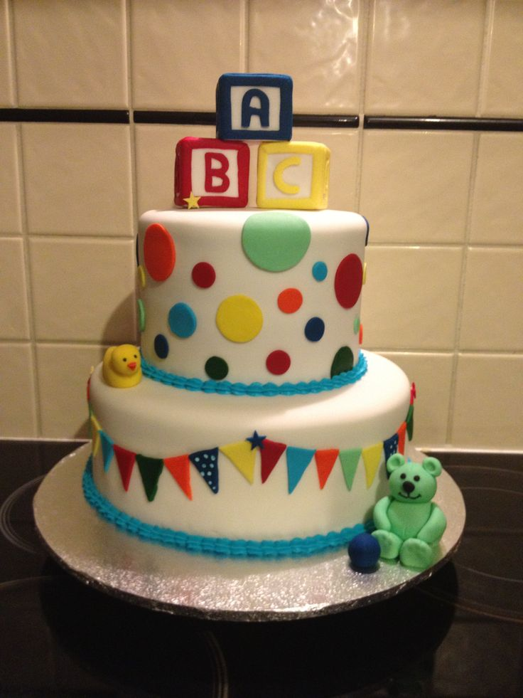Best 25 abc baby shower ideas on pinterest baby shower for Abc cake decoration