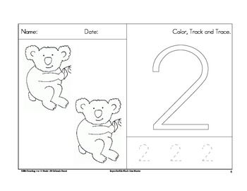 free counting worksheets 1 to 10 with a koala theme also included are tracking and. Black Bedroom Furniture Sets. Home Design Ideas