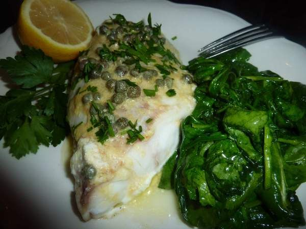 pictures of cooked grouper | Baked Grouper in Lemon Caper Sauce
