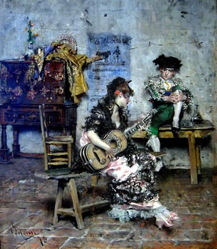 ♪ The Musical Arts ♪ music musician paintings - Giovanni Boldini   A Guitar Player