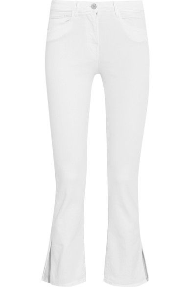 3x1 - W2 Split Bell Crop Mid-rise Straight-leg Jeans - White - 25
