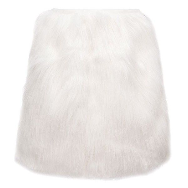 High Waist Faux Feather Mini Skirt (€24) ❤ liked on Polyvore featuring skirts, mini skirts, white, short mini skirts, high-waist skirt, high-waisted skirts, white mini skirt and white skirt