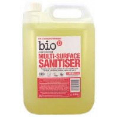 Bio D Multi Surface Sanitiser 5L made in Tyne and Wear and supplied by Green Stationery Co in Somerset - £21.48
