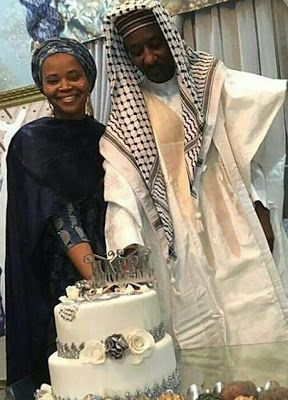 Photos from the 25th wedding anniversary celebration of Emir of Kano with one of his wives