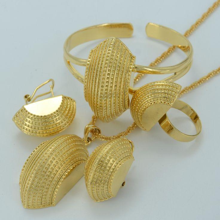 Etiopski Anniyo Nowe zestawy Biżuterii Złoty Kolor Erytrei Zaręczyny/Bride Habesha Luksusowa Biżuteria Ślubna Afryki/Sudan #002501