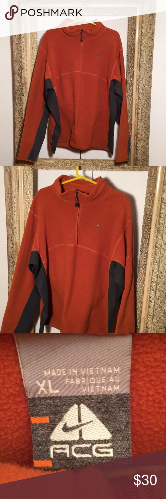 Nike ACG Half Zip Polar Fleece Sweater x Jacket Size XL - excellent condition Nike Jackets & Coats