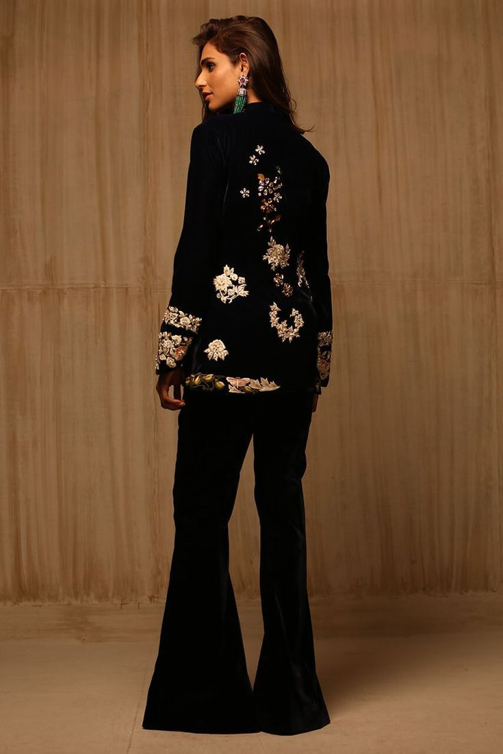 Picture of Embroidered Velvet Jacket
