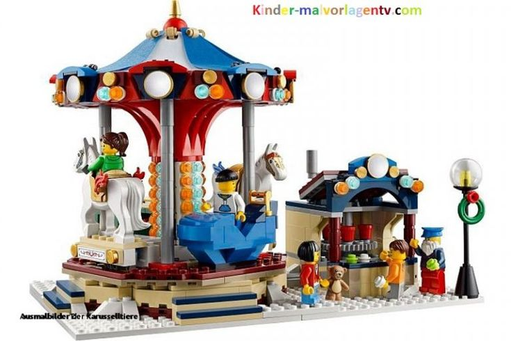 karussell ausmalbilder  kindermalvorlagentv  lego