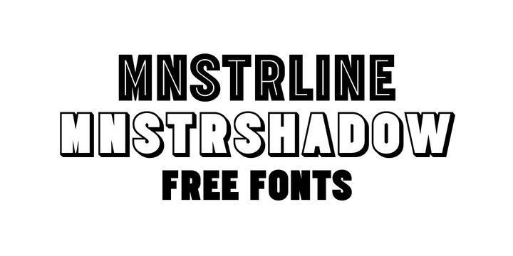 MNSTR (free) - http://fontsdiscounts.com/mnstr-free/