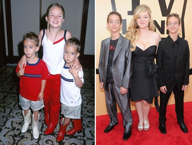 """Sawyer, Madylin and Sullivan Sweeten, """"Everybody Loves Raymond""""  Madylin Sweeten played Ray Romano's daughter, Ally Barone, alongside her real-life twin brothers Sullivan and Sawyer, who played Michael and Geoffrey Barone.  They are pictured at the TV Land Awards."""