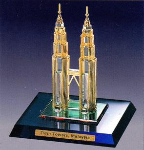 NEW CRYSTAL Twin Tower, Malaysia www.tigecrystalgifts.com