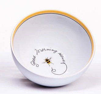 """""""Good Morning, Honey"""" Honey Bee Cereal or Soup Bowl $13.99"""
