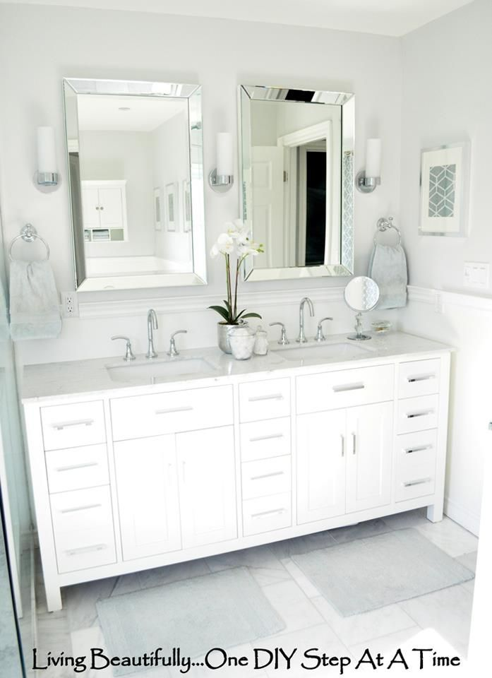 Master Bathroom Double Vanity With Drawers