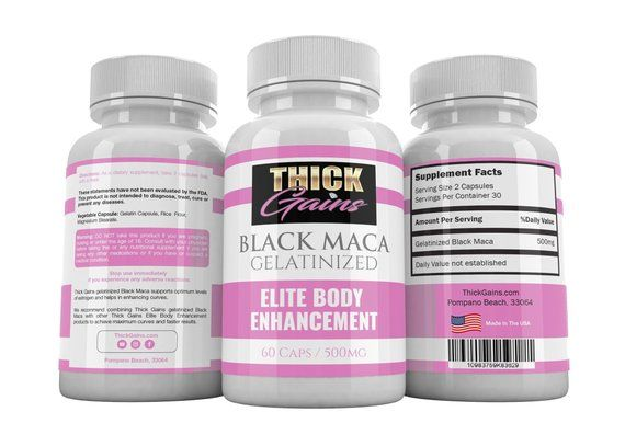 Thick Gains Black Maca Weight Gain Pills | Africans in 2019