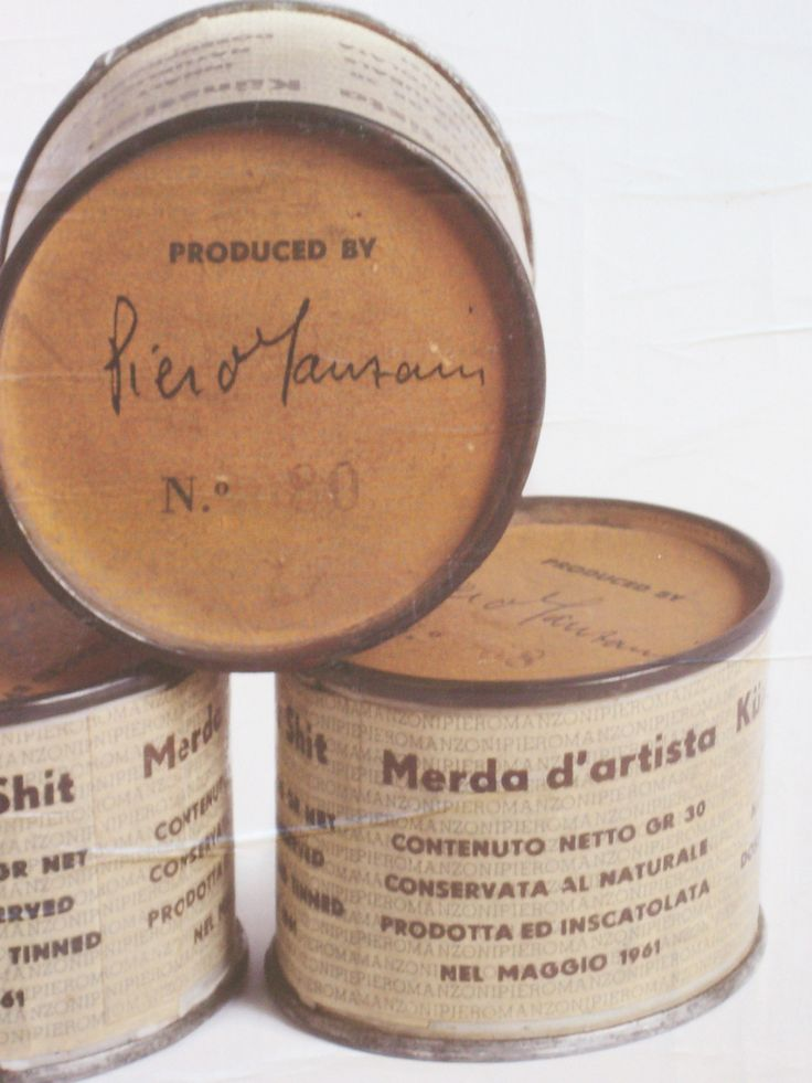 Arte Povera. Artist's Shit No. 014, 1961 // by Piero Manzoni (Italian…