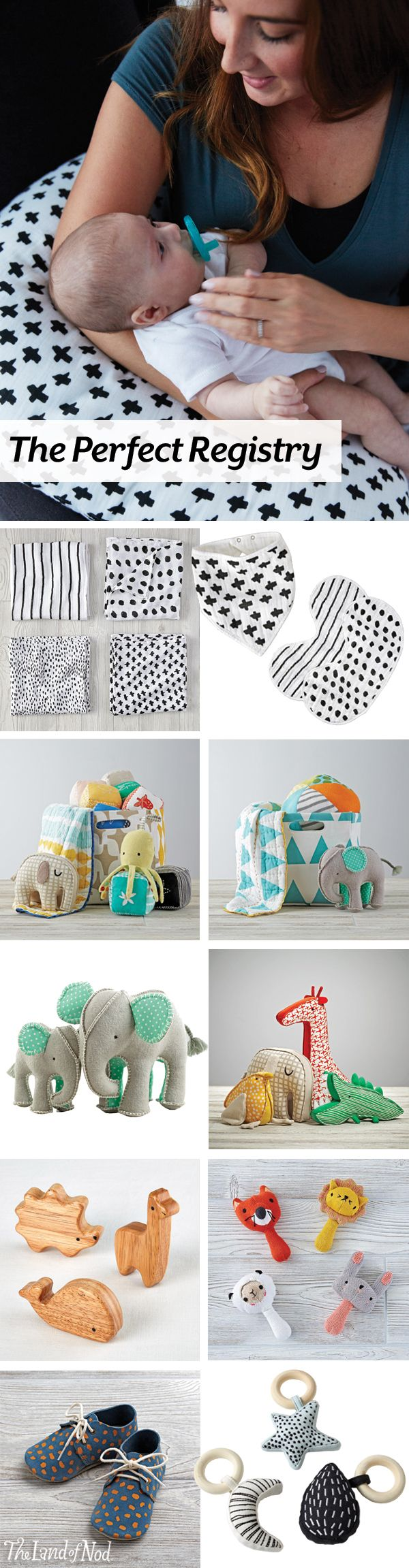 Take a look at the amazing baby gifts your little ones can get with the help of The Land of Nod's baby registry.