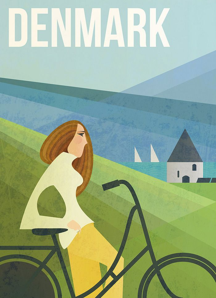 Denmark Travel Poster