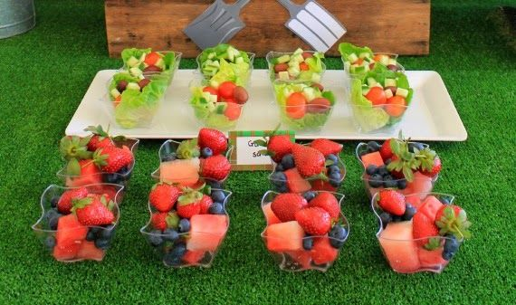 Healthy party food for kids at a little gardener's themed birthday party. www.lovethatparty.com.au