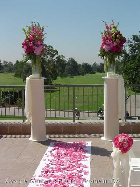 Ceremony Flowers Wedding Google Search Magenta And Silver Pinte