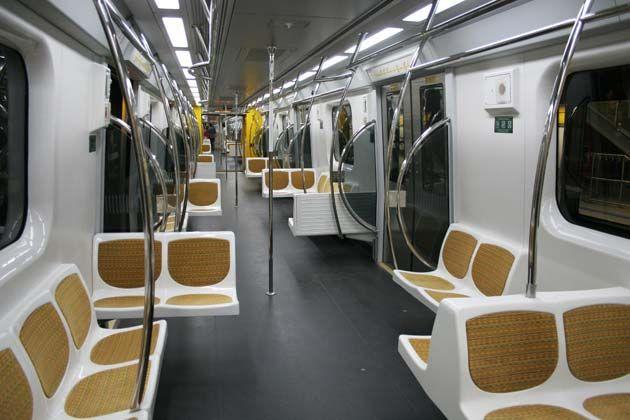Novos trens da linha amarela.