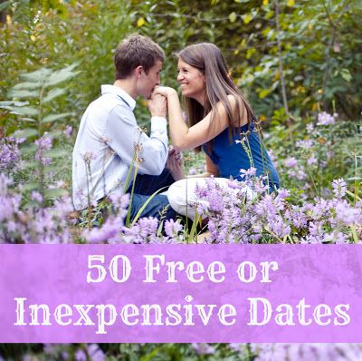 50 free or inexpensive date ideas.