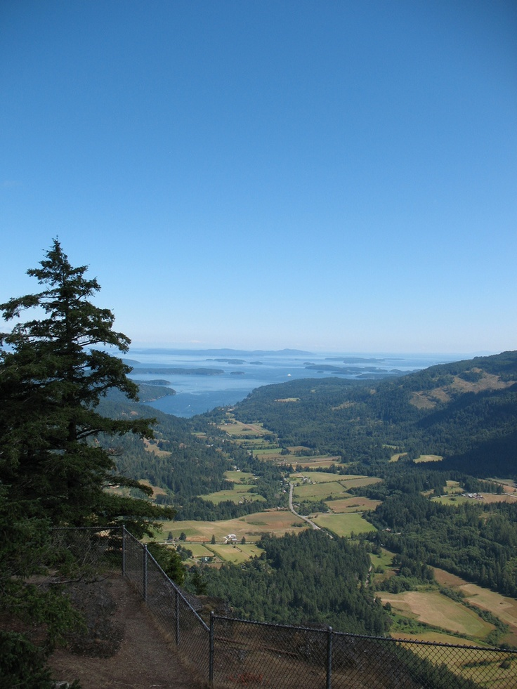 View of Fulford Harbour from Mount Maxwell, Salt Spring Island, British Columbia
