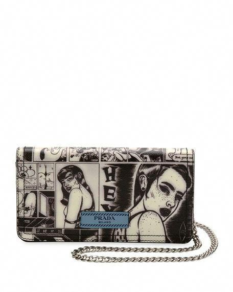 946cae1b0657 Designer Handbags & Snakeskin Bags at Bergdorf Goodman. Comic-Print Wallet -on-Chain #Designerhandbags