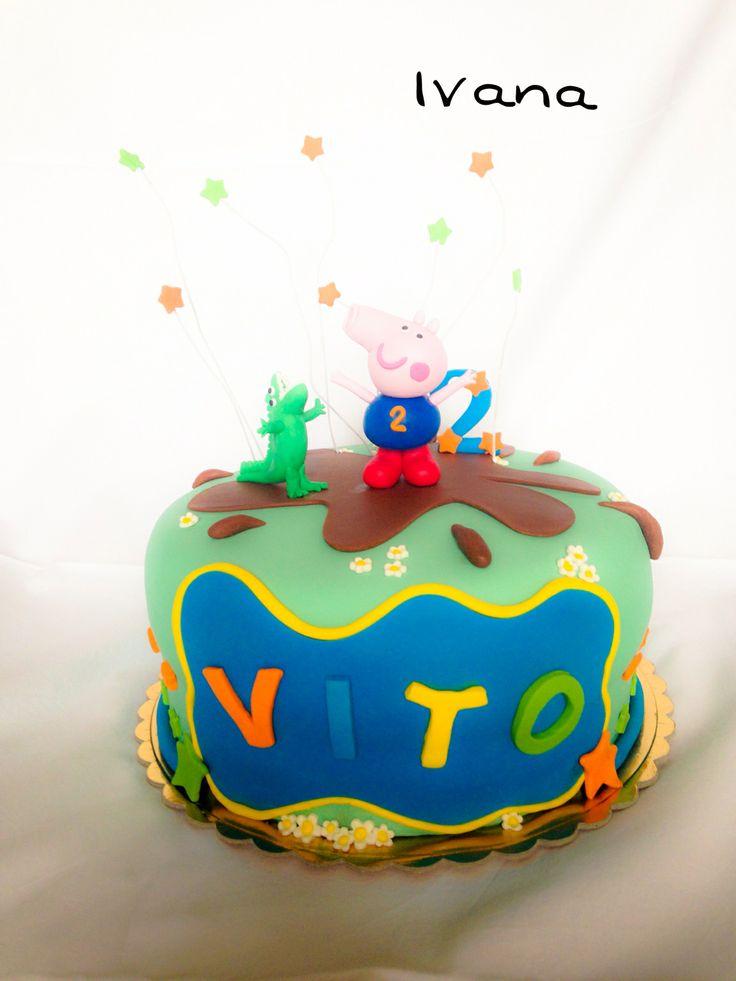 George Peppa Pig's cake