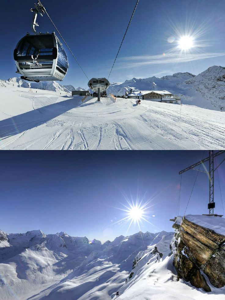 Hotel The Crystal | Design Hotel | Austria | http://lifestylehotels.net/en/hotel-the-crystal | outside, winter, snow, ski run, mountain, cable car