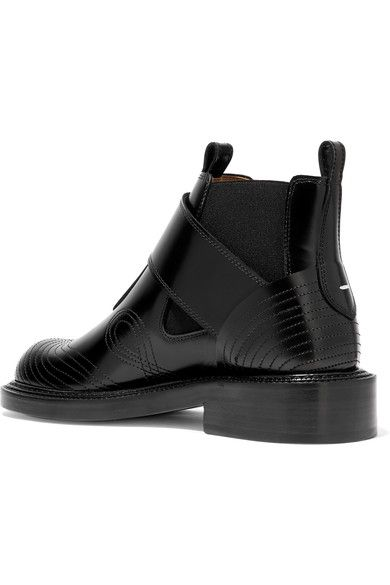 Maison Margiela - Leather Ankle Boots - Black - IT35