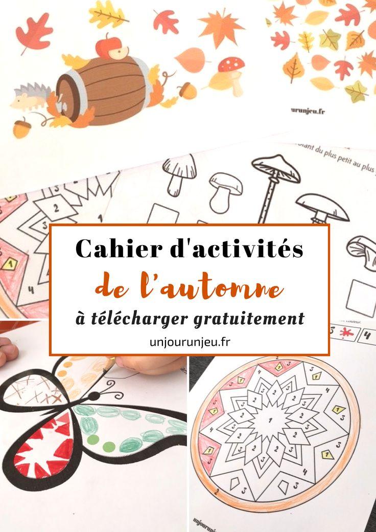 Imprimez gratuitement un cahier d'activités et de jeux spécial automne pour amuser vos enfants : labyrinthes, puzzle, points à relier, différences et plus encore.