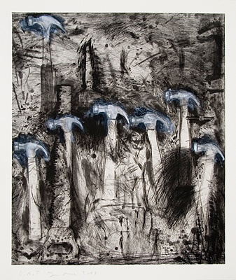 Jim Dine. Seven White Hammers. Jonathan Novak Contemporary Art    printed-editions.com