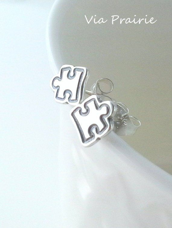 65b6a4cf7 Puzzle piece studs, Puzzle piece earrings, Autism Awareness studs, Tiny stud  earrings, 925 sterling | Products | Puzzle pieces, Autism awareness, ...