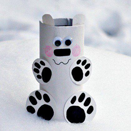 toilet paper roll polar bear