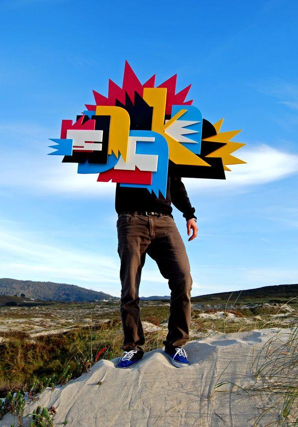 """""""graffiti"""" 3D by Pablo Shock, via Behance"""