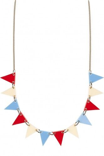 Bunting Necklace - red, white and blue