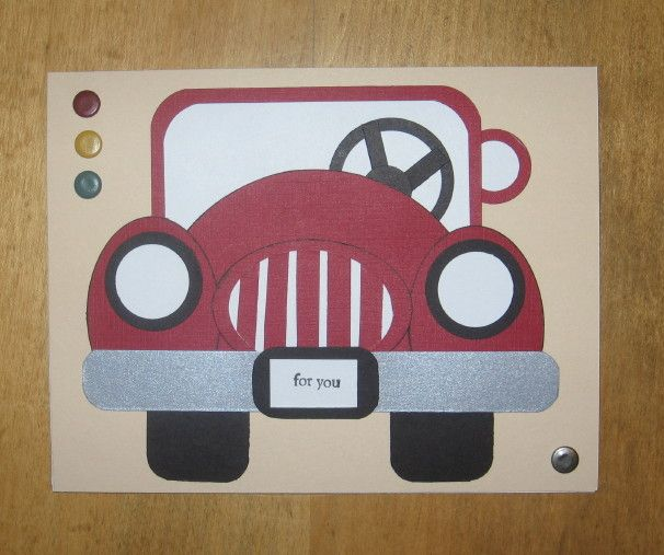 Punch Art, car, masculine by Carolynn - at Splitcoaststampers