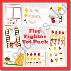 Fire Fighter FREE Tot Pack - LittleMonkeyPrintables Shop -   Teachers Notebook