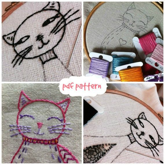 all kinds of cats embroidery pattern pdf por LiliPopo en Etsy