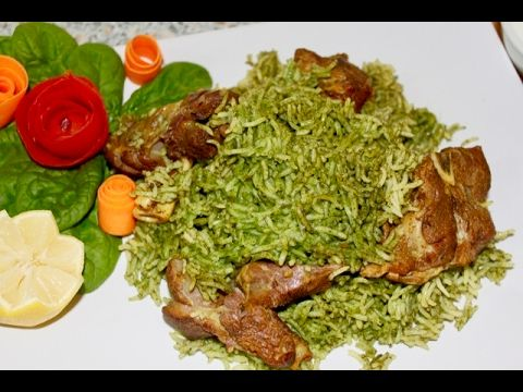 Zamarud Pulao- Spinach Rice - YouTube