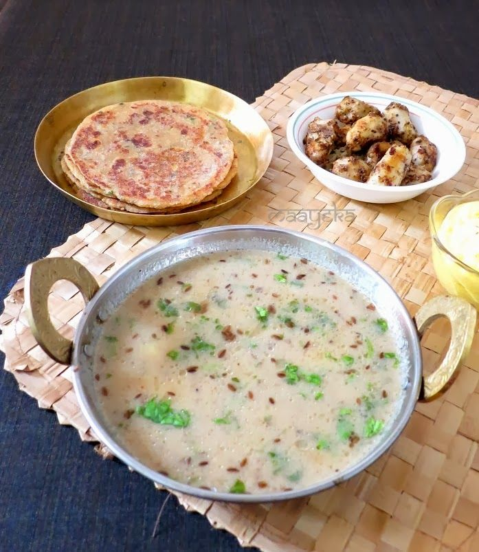 Potato curry-Navratri ki special vrat ke aloo-Potatoes cooked in yogurt and pepper sauce