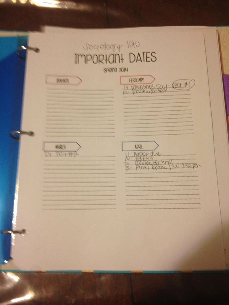 How to organize your college binder 11