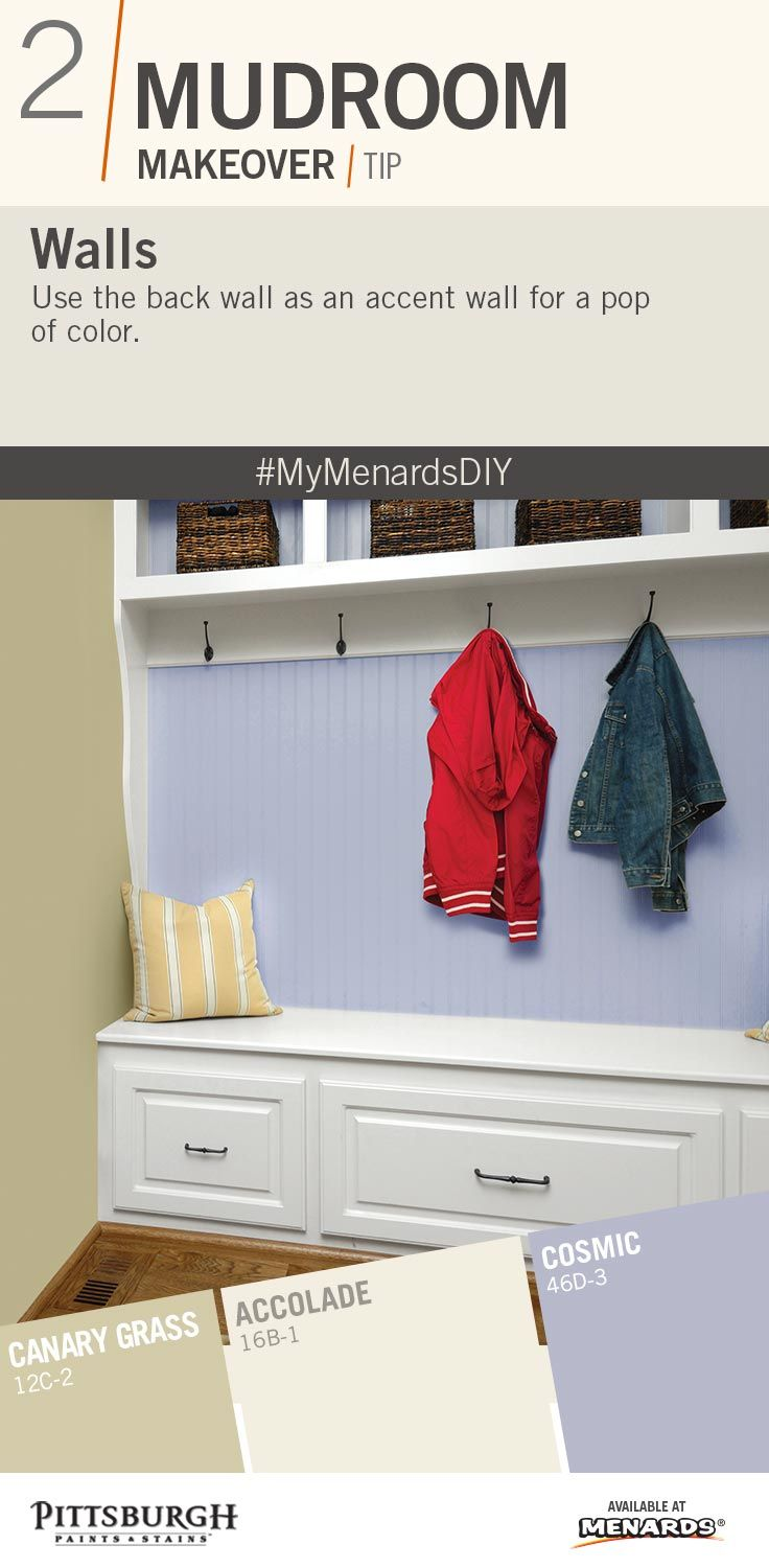 Mudroom Makeover Paint Color Inspiration Use A Wall In