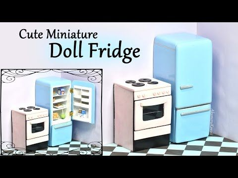 Miniature Vintage Refrigerator Tutorial                                                                                                                                                                                 More